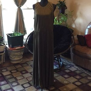 Dark green summer dress